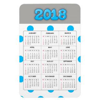 Ímã do refrigerador do calendário das cinzas azuis