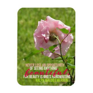 Ímã do rosa do rosa da oportunidade de Ralph Waldo