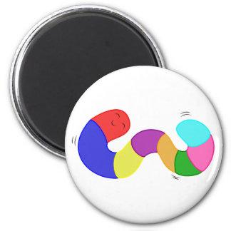 Ímã do sem-fim do Wiggle do arco-íris Ímã Redondo 5.08cm