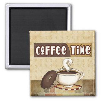 Ímã do tempo do café ímã quadrado