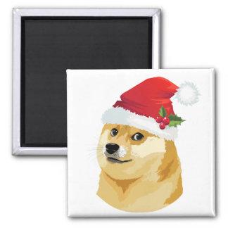 Imã Doge do Natal - doge do papai noel - cão do Natal