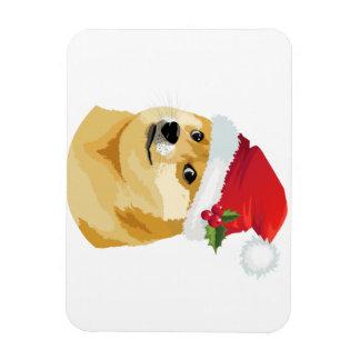 Ímã Doge do Natal - doge do papai noel - cão do Natal