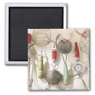 Ímã dos utensílios da cozinha do vintage imãs de geladeira