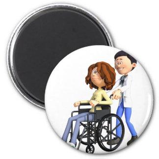 Imã Doutor Wheeling Paciente Cadeira de rodas dos