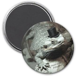Imã Dragão farpado em um ímã do chapéu alto
