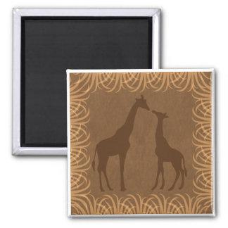 Imã Duas silhuetas do girafa (tema do safari)