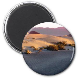 Imã Dunas de areia lisas o Vale da Morte do Mesquite