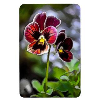 Ímã Duo da flor do amor perfeito do Bordéus