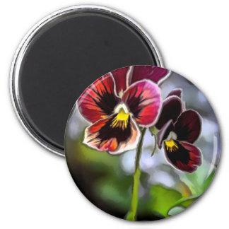 Imã Duo da flor do amor perfeito do Bordéus