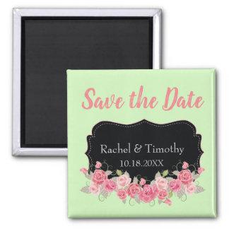 Imã Economias bonitas o rosa e o verde Wedding da data