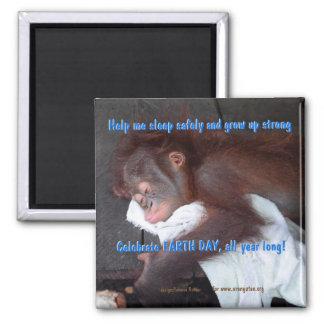 Imã Economias do Dia da Terra o bebê do orangotango