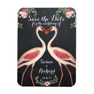 Ímã Economias do flamingo o quadro da data