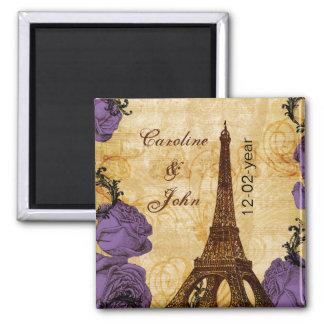 Imã economias roxas de Paris da torre Eiffel do