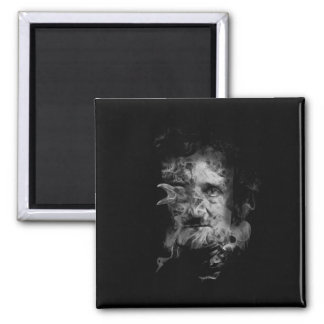 Imã Edgar Allan Poe no fumo com corvo
