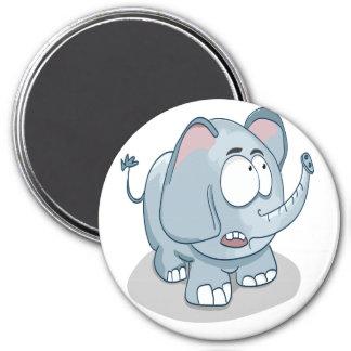 Imã Elefante do bebê dos desenhos animados que olha no