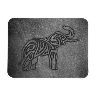 Ímã Elefante tribal de couro