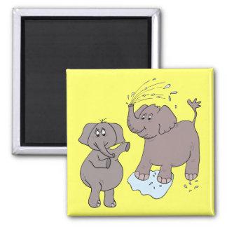 """Imã elefantes engraçados """"desenhos animados """""""