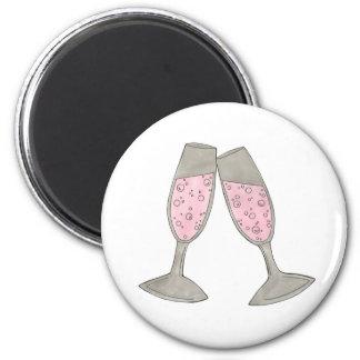 Imã Elogios de vidro cor-de-rosa borbulhantes de