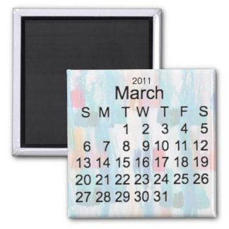 Imã Em março de 2011 calendário diminuto