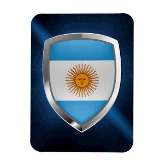 Ímã Emblema de Argentina Mettalic