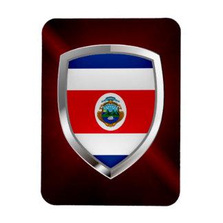 Ímã Emblema de Costa Rica Mettalic