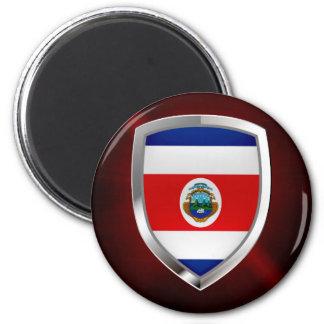Imã Emblema de Costa Rica Mettalic