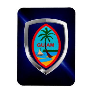 Ímã Emblema de Guam Mettalic