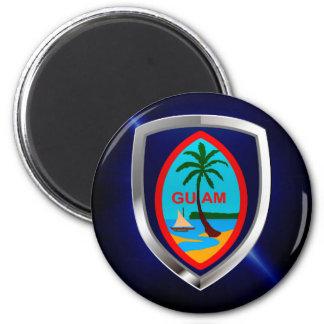 Imã Emblema de Guam Mettalic