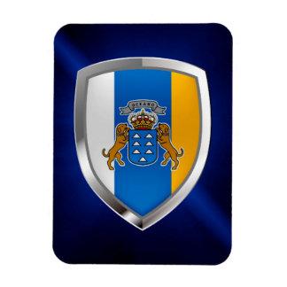 Ímã Emblema de Mettalic das Ilhas Canárias
