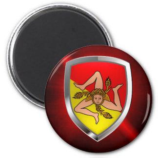 Imã Emblema de Sicilia Mettalic