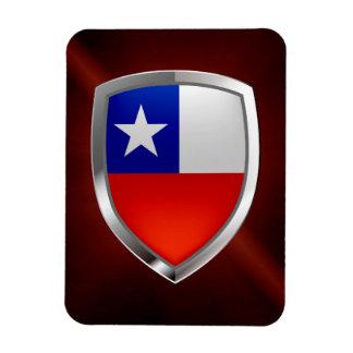 Ímã Emblema do Chile Mettalic