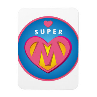 Ímã Emblema engraçado da mamã do Superwoman do