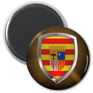 Imã Emblema metálico de Aragón