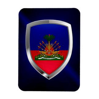 Ímã Emblema metálico de Haiti