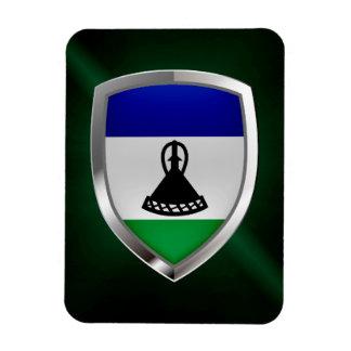 Ímã Emblema metálico de Lesotho