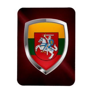 Ímã Emblema metálico de Lithuania