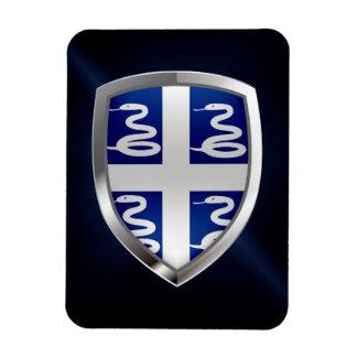 Ímã Emblema metálico de Martinica