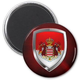 Imã Emblema metálico de Monaco