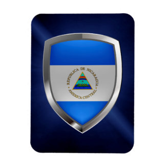 Ímã Emblema metálico de Nicarágua