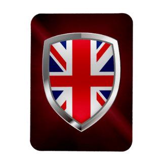 Ímã Emblema metálico de Reino Unido