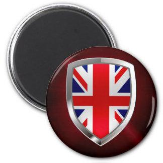 Imã Emblema metálico de Reino Unido