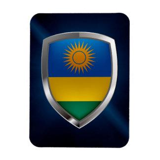 Ímã Emblema metálico de Rwanda