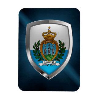 Ímã Emblema metálico de San Marino