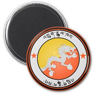 Imã Emblema redondo de Bhutan