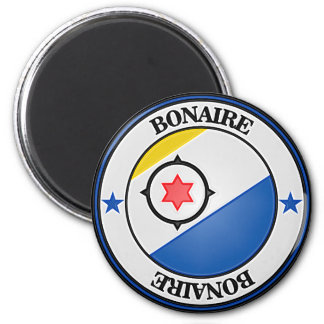 Imã Emblema redondo de Bonaire