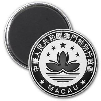 Imã Emblema redondo de Macau