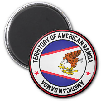 Imã Emblema redondo de Samoa Americanas
