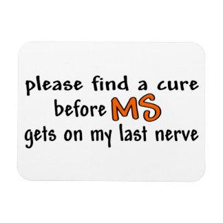 Ímã Encontre por favor uma cura antes do MS obtem em