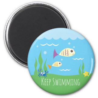 Imã Engraçado apenas mantenha nadar peixes