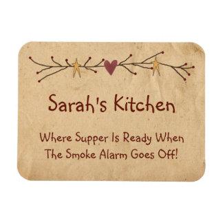 Ímã engraçado da cozinha do país